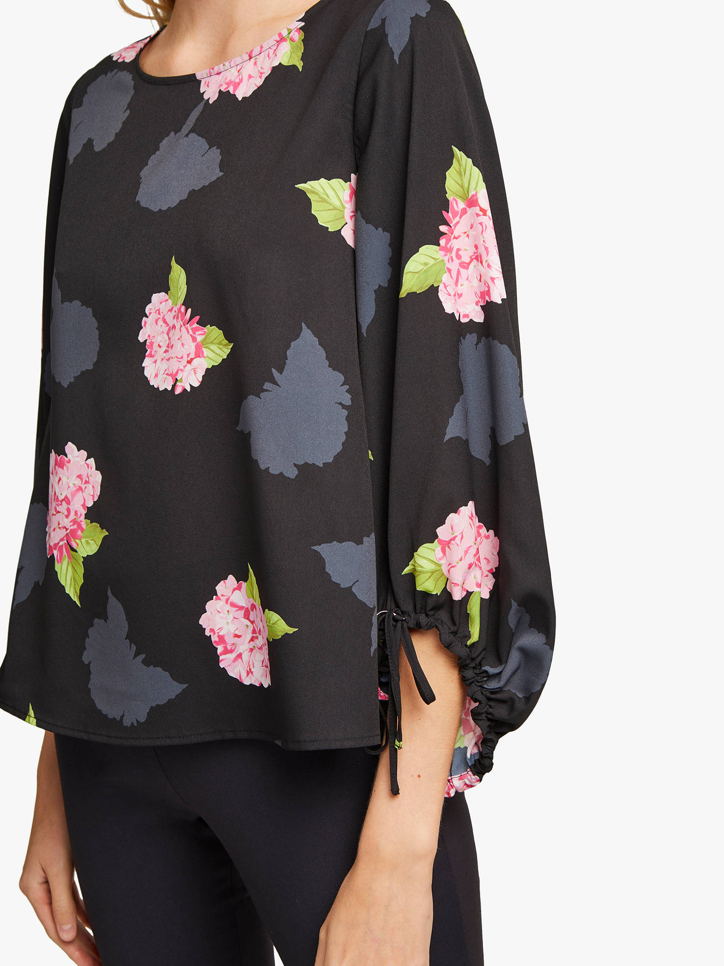 fa7cee29219015 ... Buy French Connection Eleonore Floral Top, Black Multi, XS Online at  johnlewis.com