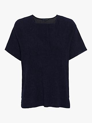 French Connection Rosette Jersey T-Shirt, Utility Blue