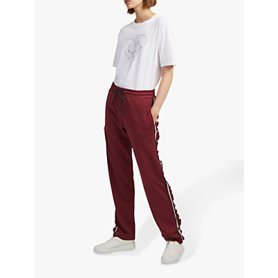 French Connection Yvonne Stripe Joggers, Rosso Red