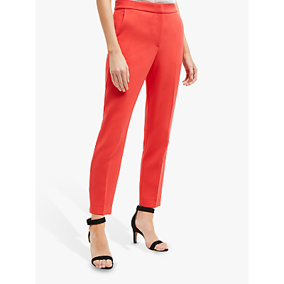 French Connection Ruth Tailored Trousers, Fire Coral