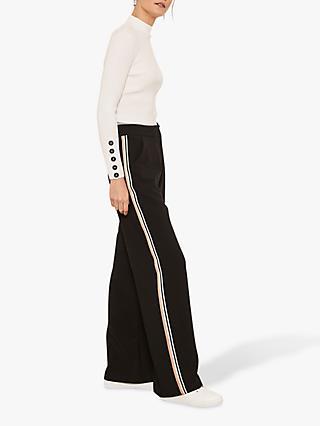 8a33c91f5367 Mint Velvet Side Stripe Wide Leg Trousers