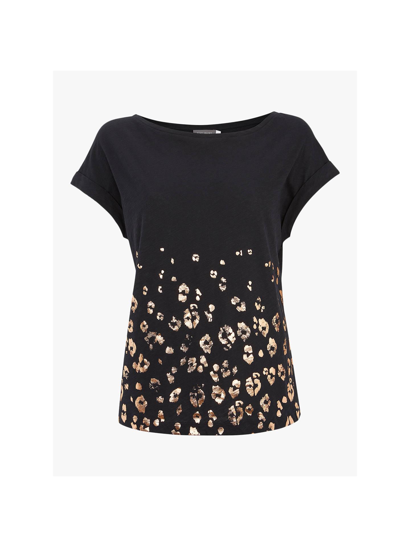 866d73b50ab4 ... Buy Mint Velvet Leopard Print T-Shirt, Dark Blue, L Online at johnlewis  ...