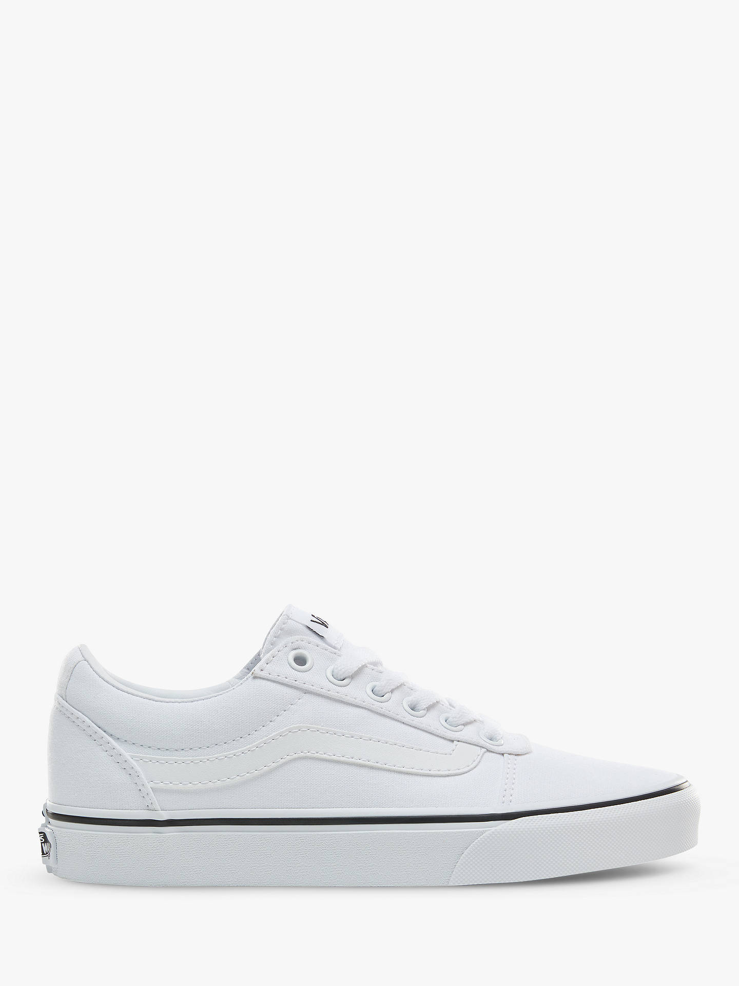 22694ae66 Buy Vans Ward Lace Up Trainers, White, 4 Online at johnlewis.com ...