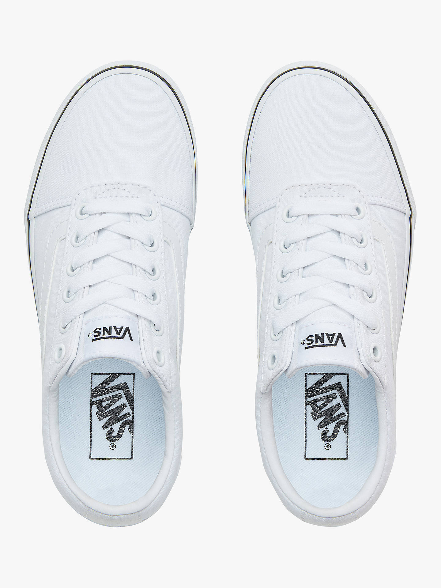 bc5ab3ac5 ... Buy Vans Ward Lace Up Trainers, White, 4 Online at johnlewis.com ...