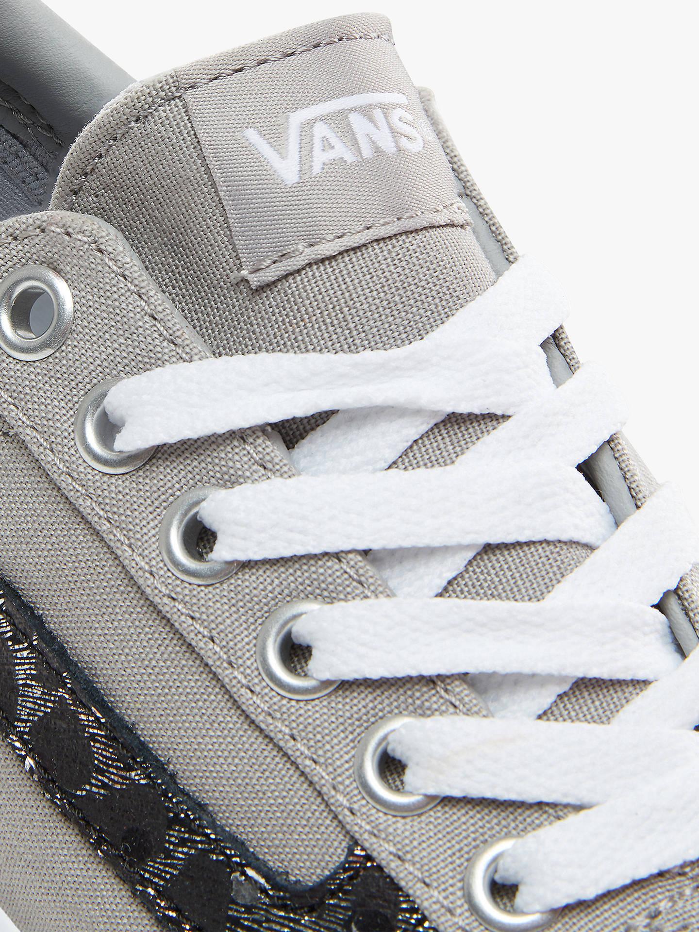 special sales shop best sellers largest selection of Vans Ward Lace Up Platform Trainers, Grey/Met Leopard ...