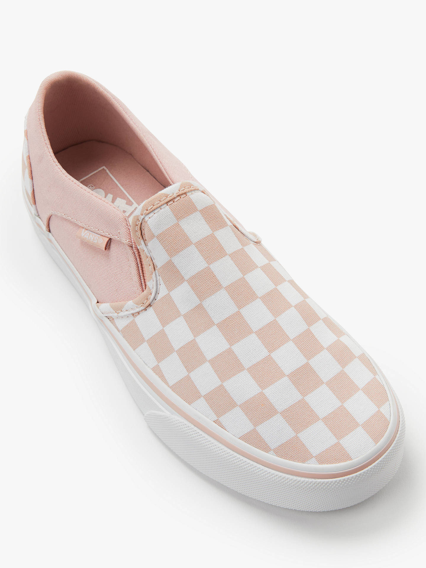 5bb59efa5deb ... Buy Vans Asher Checkerboard Slip On Trainers