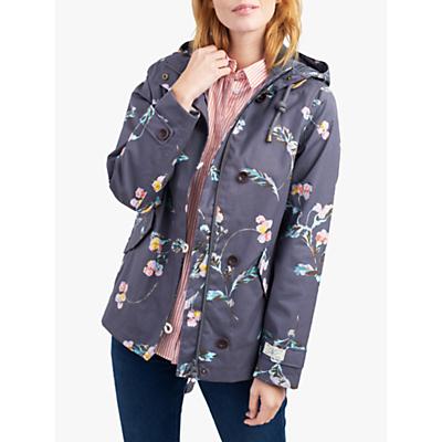 Joules Coast Hare Screen Print Hooded Jacket, Grey