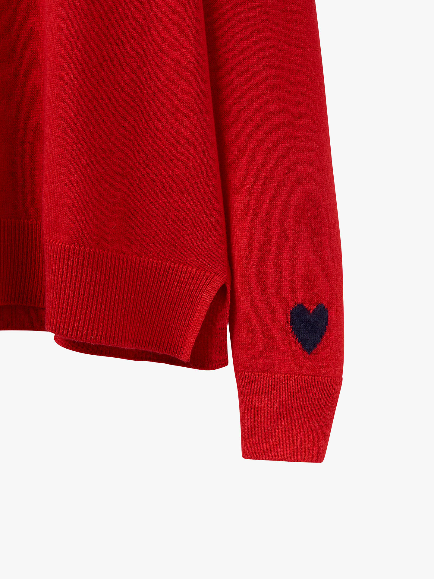 Buy Joules Love Colour Block Crew Neck Jumper, Red, 18 Online at johnlewis.com