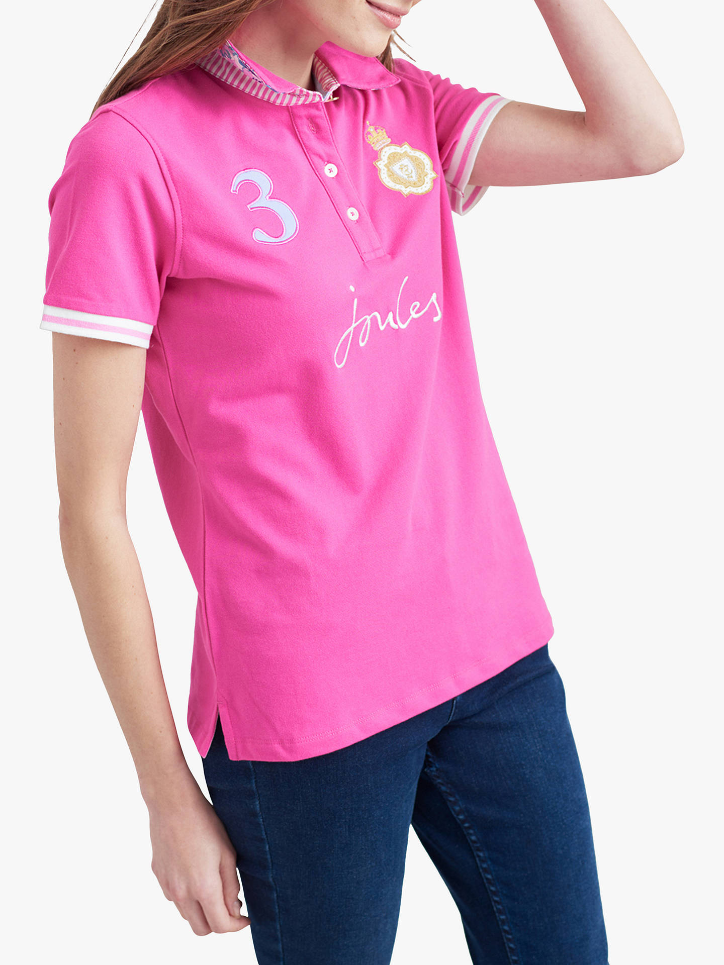 c2f8d3200cde4 Buy Joules Beaucroft Polo Shirt, Pink, 10 Online at johnlewis.com ...