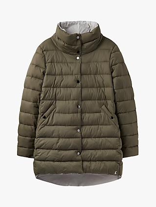 Joules Wroxham Reversible Puffer Jacket, Grape Leaf