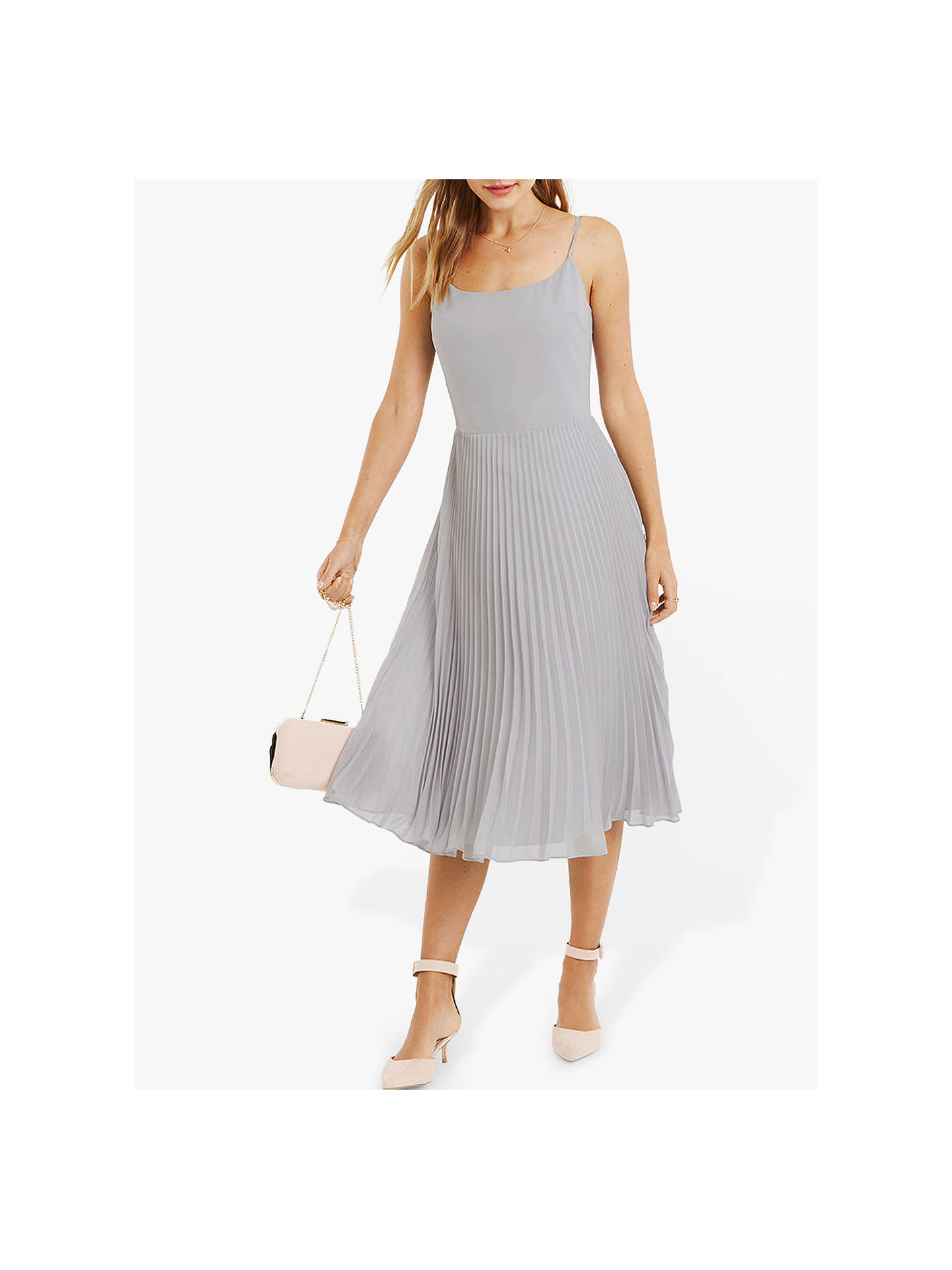 46aa429eff63 ... Buy Oasis Lace Top Midi Dress, Pale Grey, 12L Online at johnlewis.com  ...