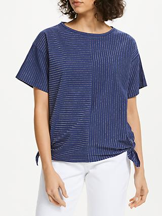 AND/OR Side Tie Cutabout T-Shirt, Midnight Blue