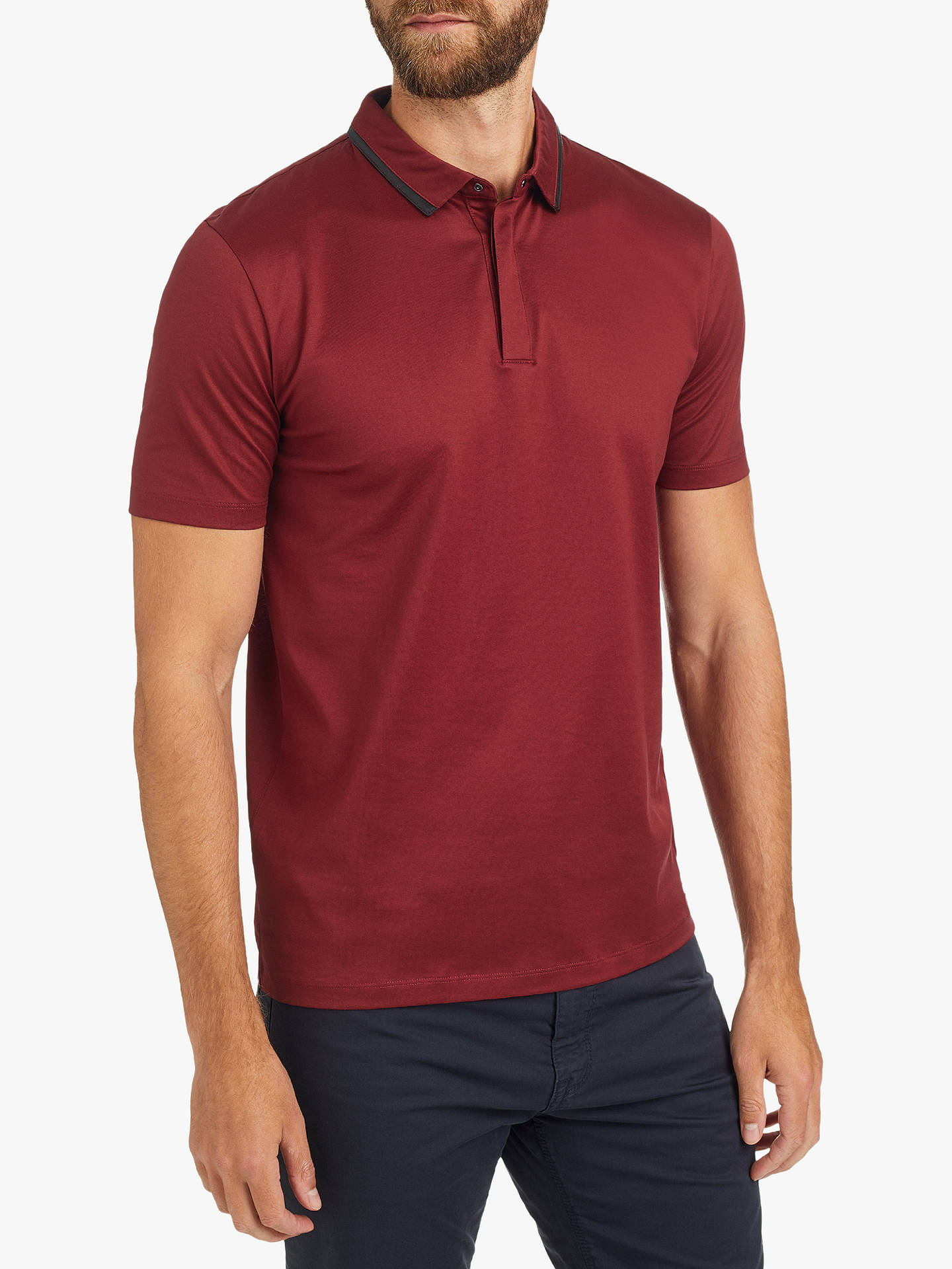 94e730b6 Buy HUGO by Hugo Boss Darseille Slim Fit Polo Shirt, Red, S Online at ...