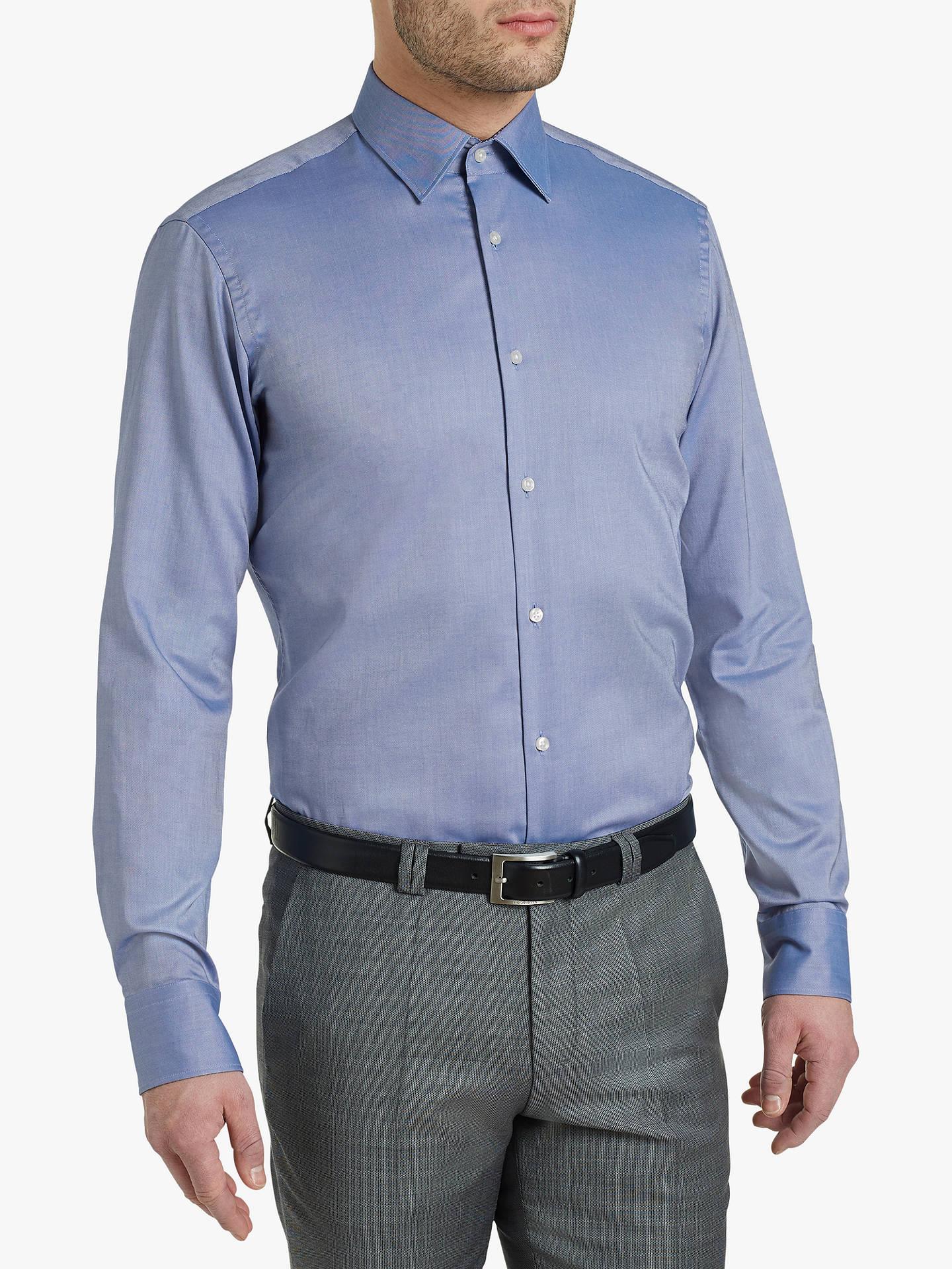 40b95514330 HUGO by Hugo Boss Velwin Oxford Shirt, Navy Blue at John Lewis ...