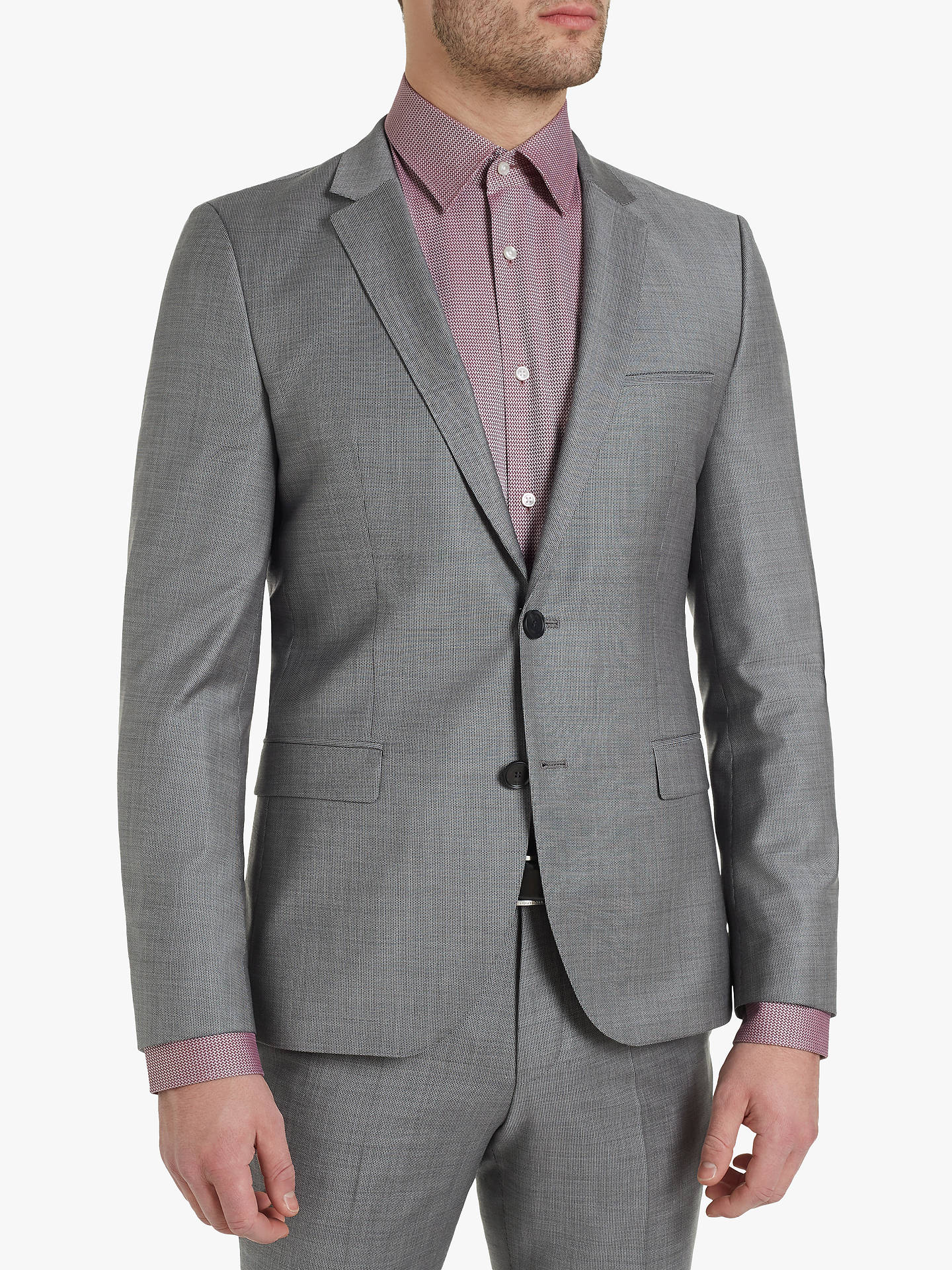 cae8593d Buy HUGO by Hugo Boss Arti182 Birdseye Wool Super Slim Suit Jacket, Grey,  36R ...