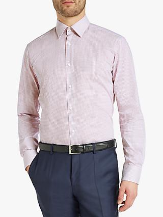 5cc65105b HUGO by Hugo Boss Venzo Dash Print Regular Fit Shirt, White/Burgundy