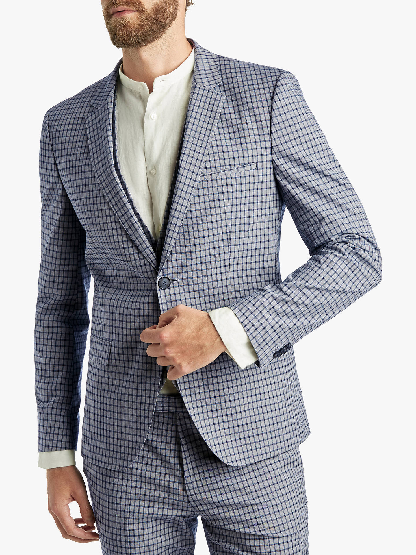 outlet store sale hot sale fashion style HUGO by Hugo Boss Glen Check Extra Slim Fit Suit Jacket ...