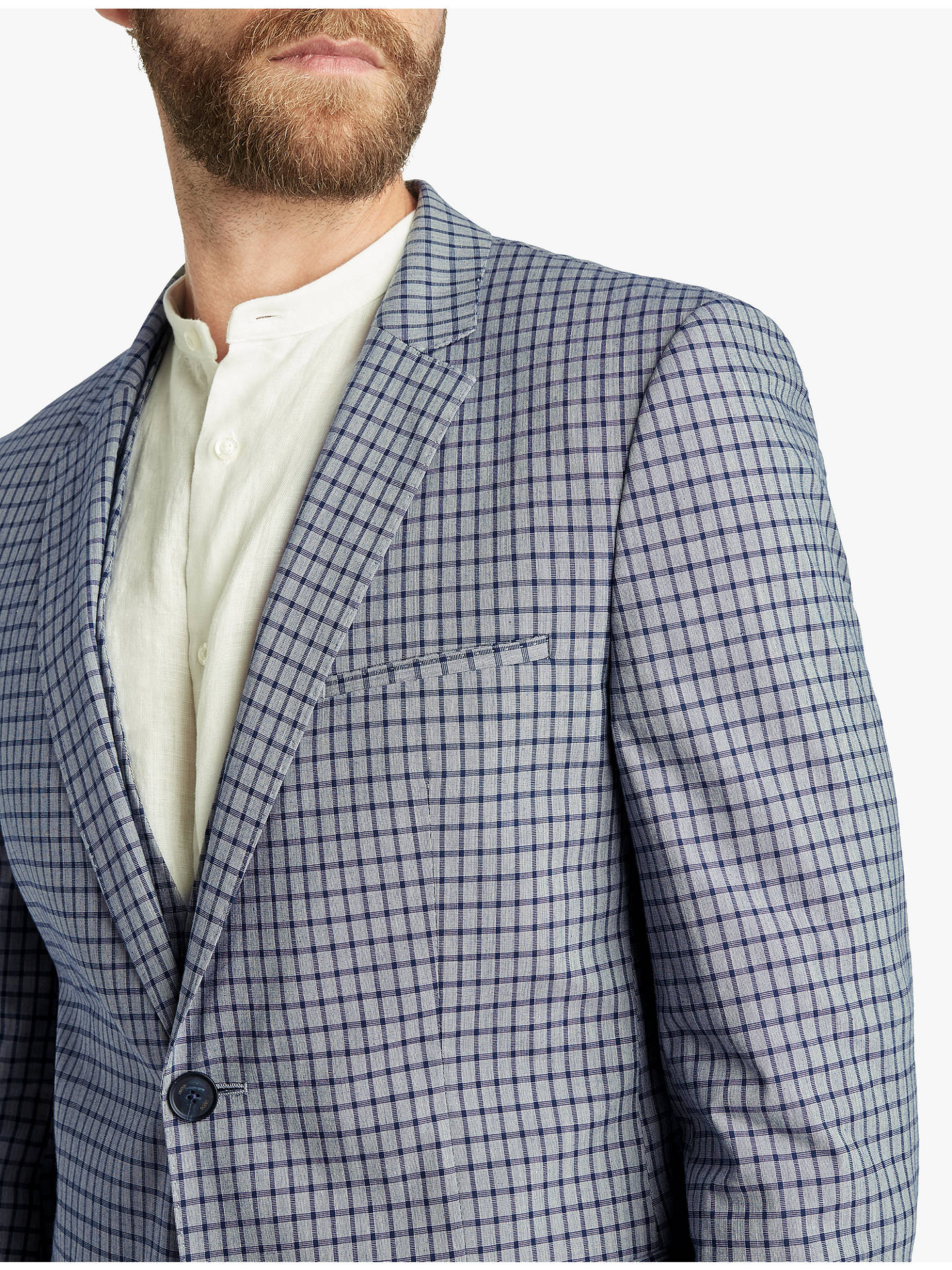 bfd7fb90 ... Buy HUGO by Hugo Boss Glen Check Extra Slim Fit Suit Jacket, Blue, 40R