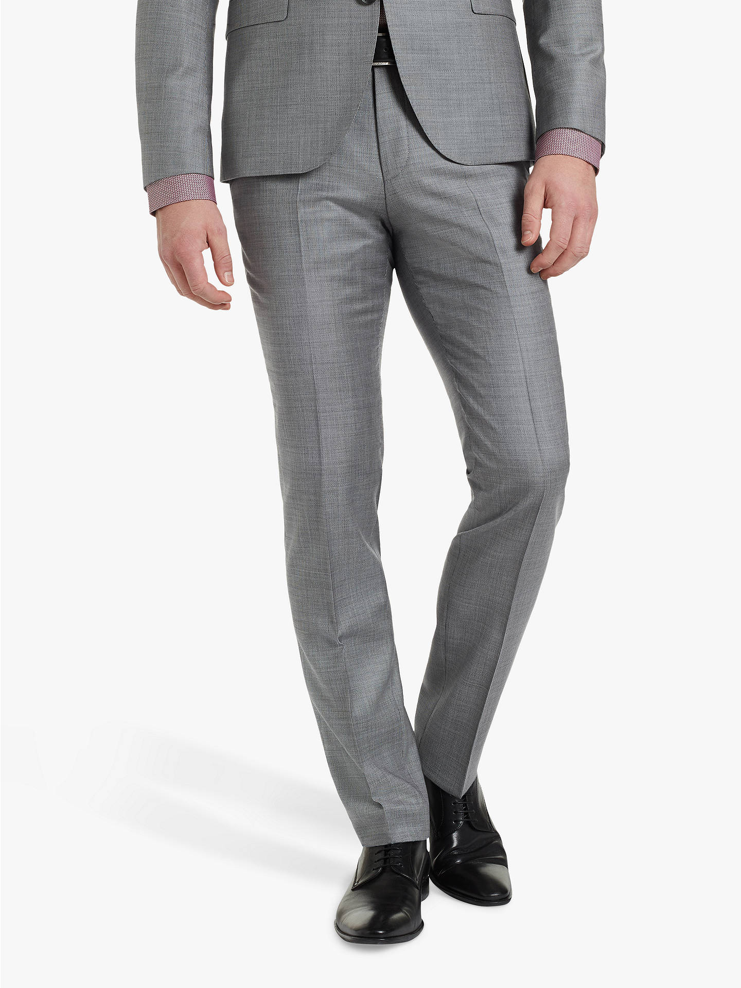 8a30b89e Buy HUGO by Hugo Boss Hesten182 Birdseye Wool Super Slim Suit Trousers, Grey,  32R ...