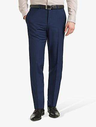 HUGO by Hugo Boss Helo192 Virgin Wool Extra Slim Suit Trousers, Blue