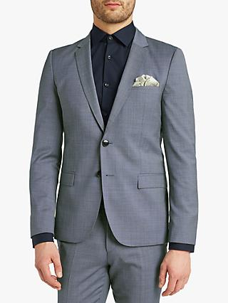 6d760e8796367 HUGO by Hugo Boss Arti 182 Pin Dot Wool Super Slim Suit Jacket, Blue