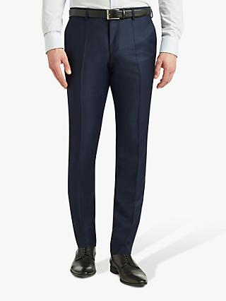 HUGO by Hugo Boss Getlin Harvey Birdseye Slim Fit Suit Trousers, Navy
