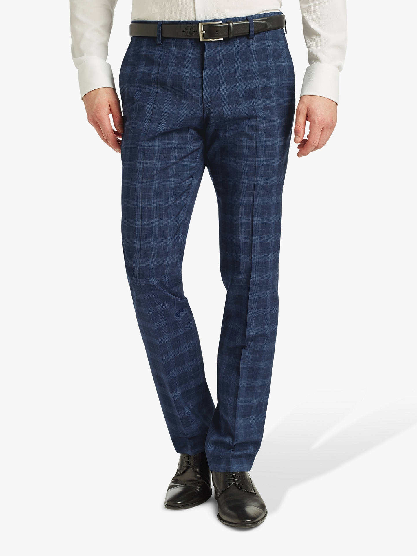 38c064abb Buy HUGO by Hugo Boss Getlin Prince of Wales Check Slim Fit Suit Trousers,  Navy ...