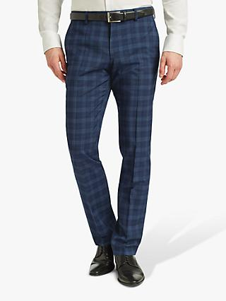HUGO by Hugo Boss Getlin Prince of Wales Check Slim Fit Suit Trousers, Navy