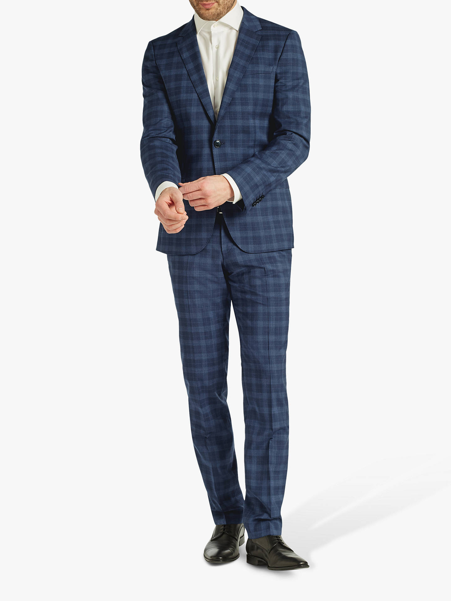 f4233e20 ... Buy HUGO by Hugo Boss Getlin Prince of Wales Check Slim Fit Suit  Trousers, Navy ...
