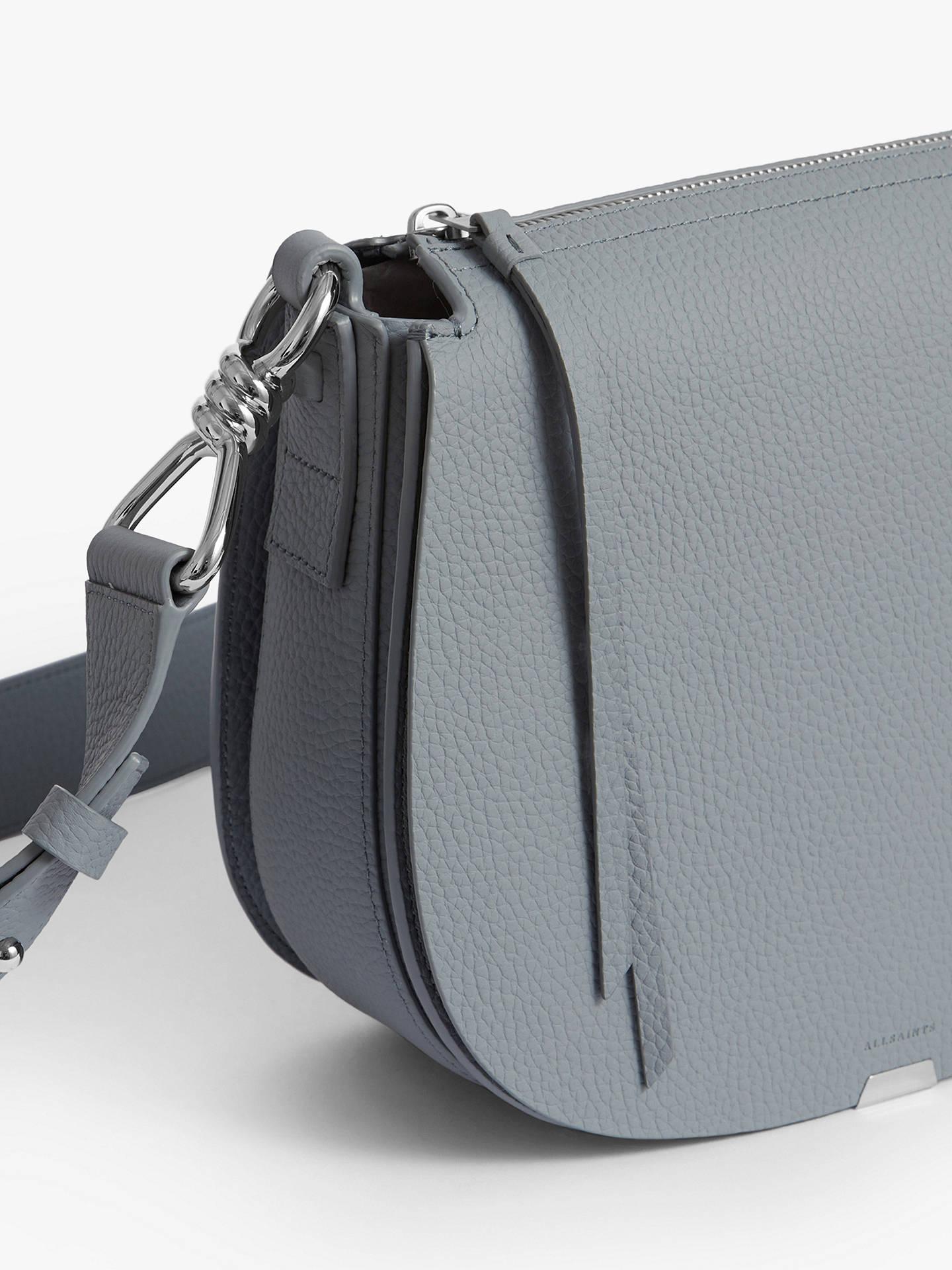 8dfc5e30f Buy AllSaints Captain Lea Round Leather Cross Body Bag, Denim Blue Online  at johnlewis.