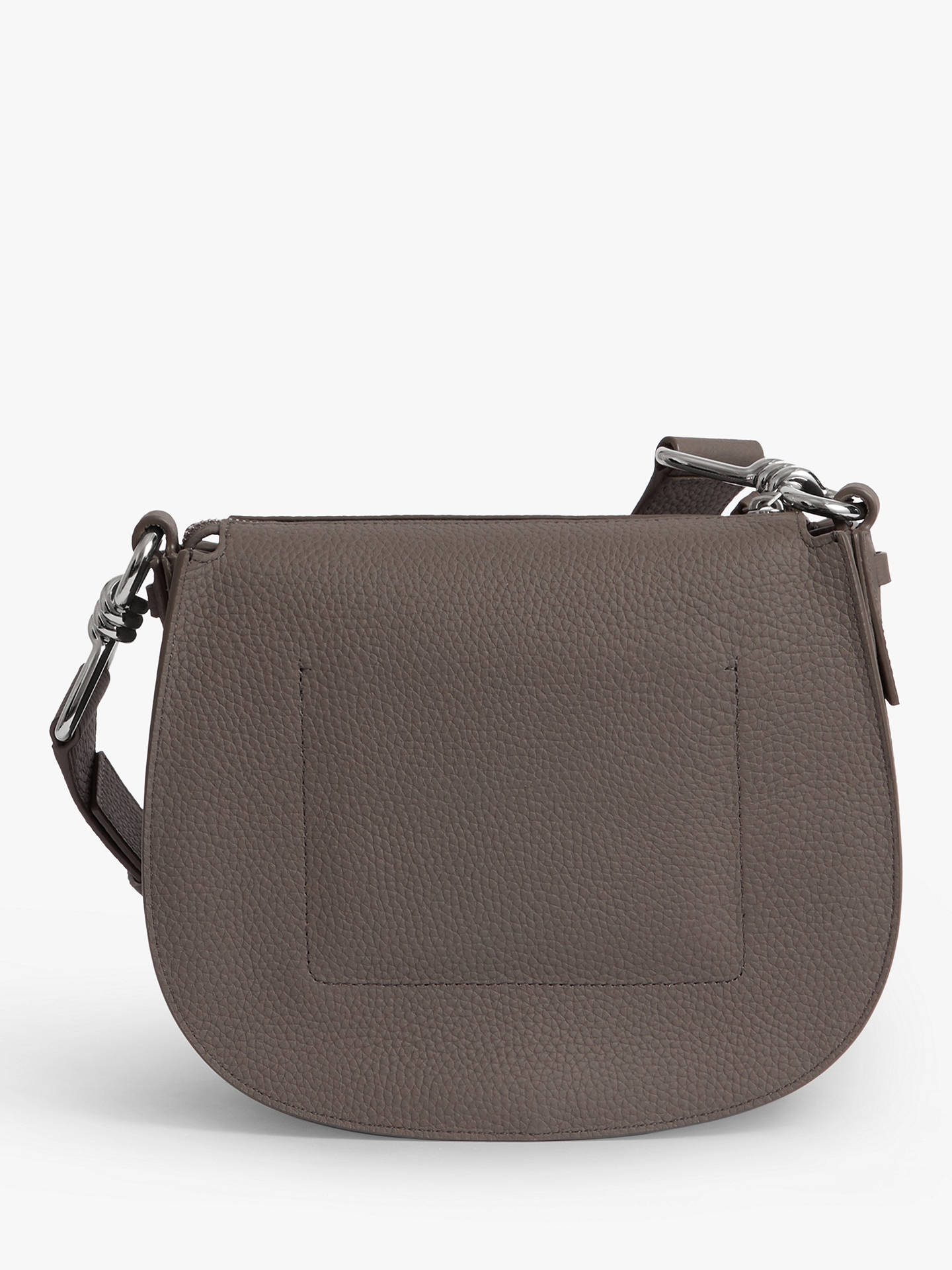 349ad4a1f Buy AllSaints Captain Lea Round Leather Cross Body Bag, Storm Grey Online  at johnlewis.