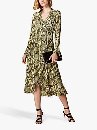 f0e6af9826 Karen Millen Snake Print Wrap Dress