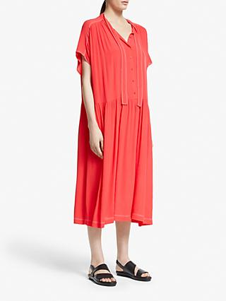 Kin Red Tie Neck Oversized Dress, Red