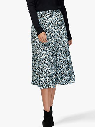 Brora Liberty Jersey Skirt, Midnight Blossom