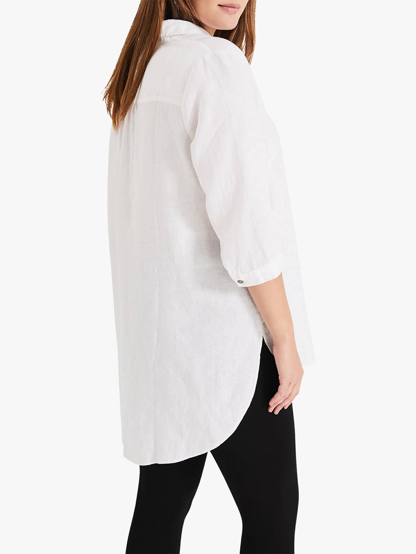 4332cff2 ... Buy Studio 8 Haze Linen Shirt, White, 16 Online at johnlewis.com ...