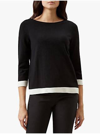 Hobbs Gracie Sweater, Black/Ivory