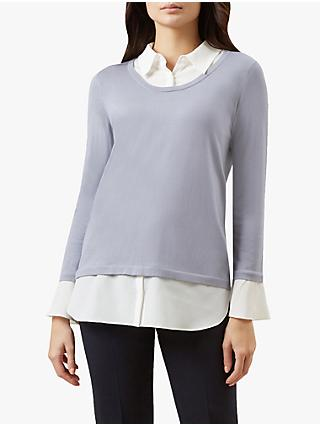 Hobbs Jessica Sweater, Steel Blue