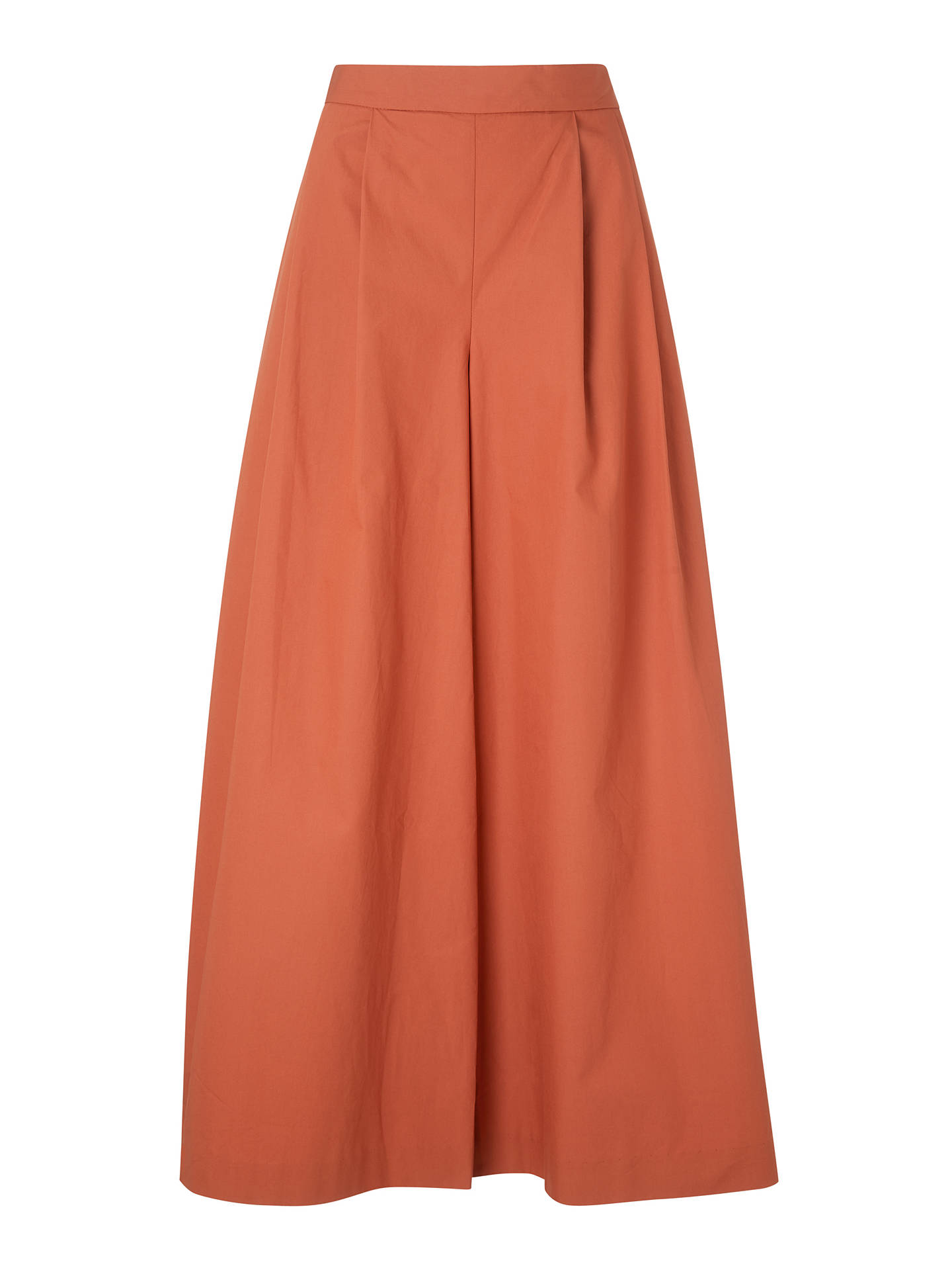 Buy Kin Wide Leg Cropped Trousers, Rust, 8 Online at johnlewis.com