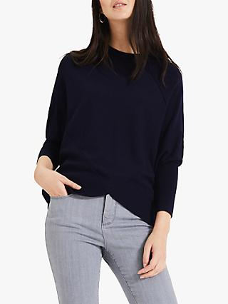 Phase Eight Ottelie Seam Jumper, Navy