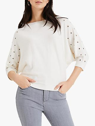 Phase Eight Cristine Eyelet Knit Jumper, Ivory
