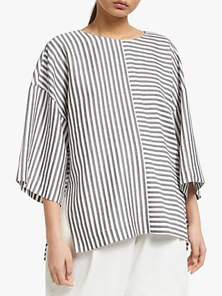 Kin Stripe Top, Grey