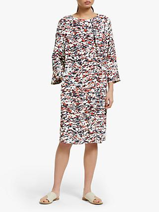 Kin Minoh Printed Dress, White