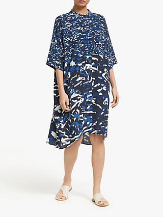 6e03d71ab8 Kin Oversized Printed Shirt Dress, Blue