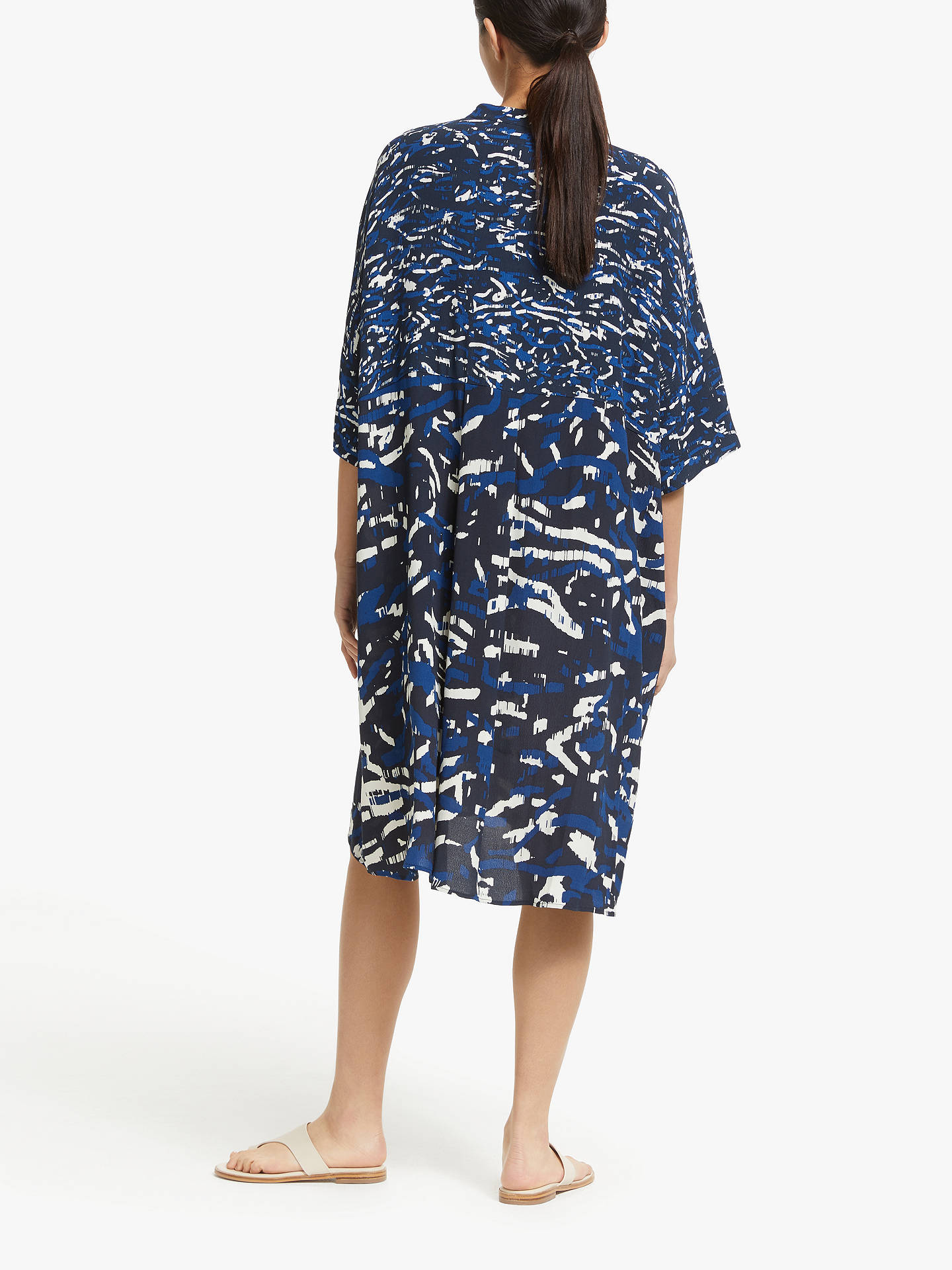 Buy Kin Oversized Printed Shirt Dress, Blue, S Online at johnlewis.com