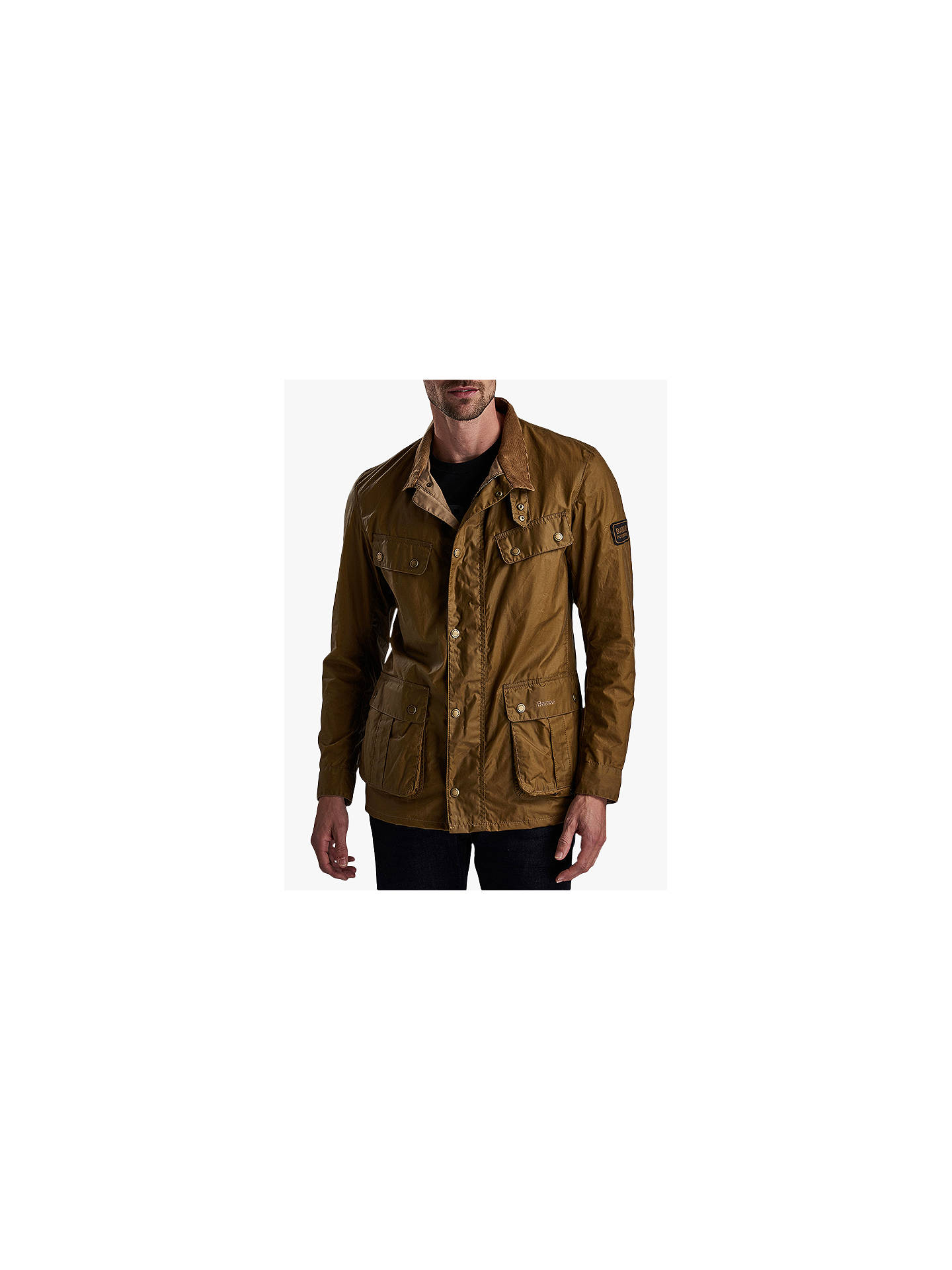BuyBarbour International Duke Wax Jacket, Sand, S Online at johnlewis.com