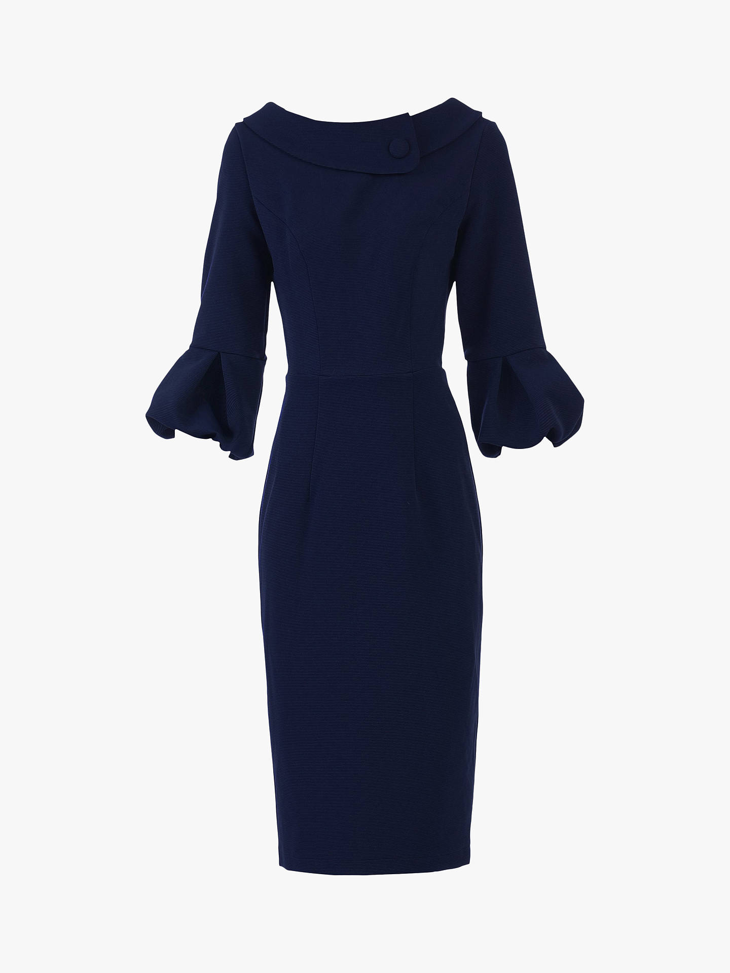 Buy Jolie Moi Bell Sleeve Collar Dress, Navy, 10 Online at johnlewis.com