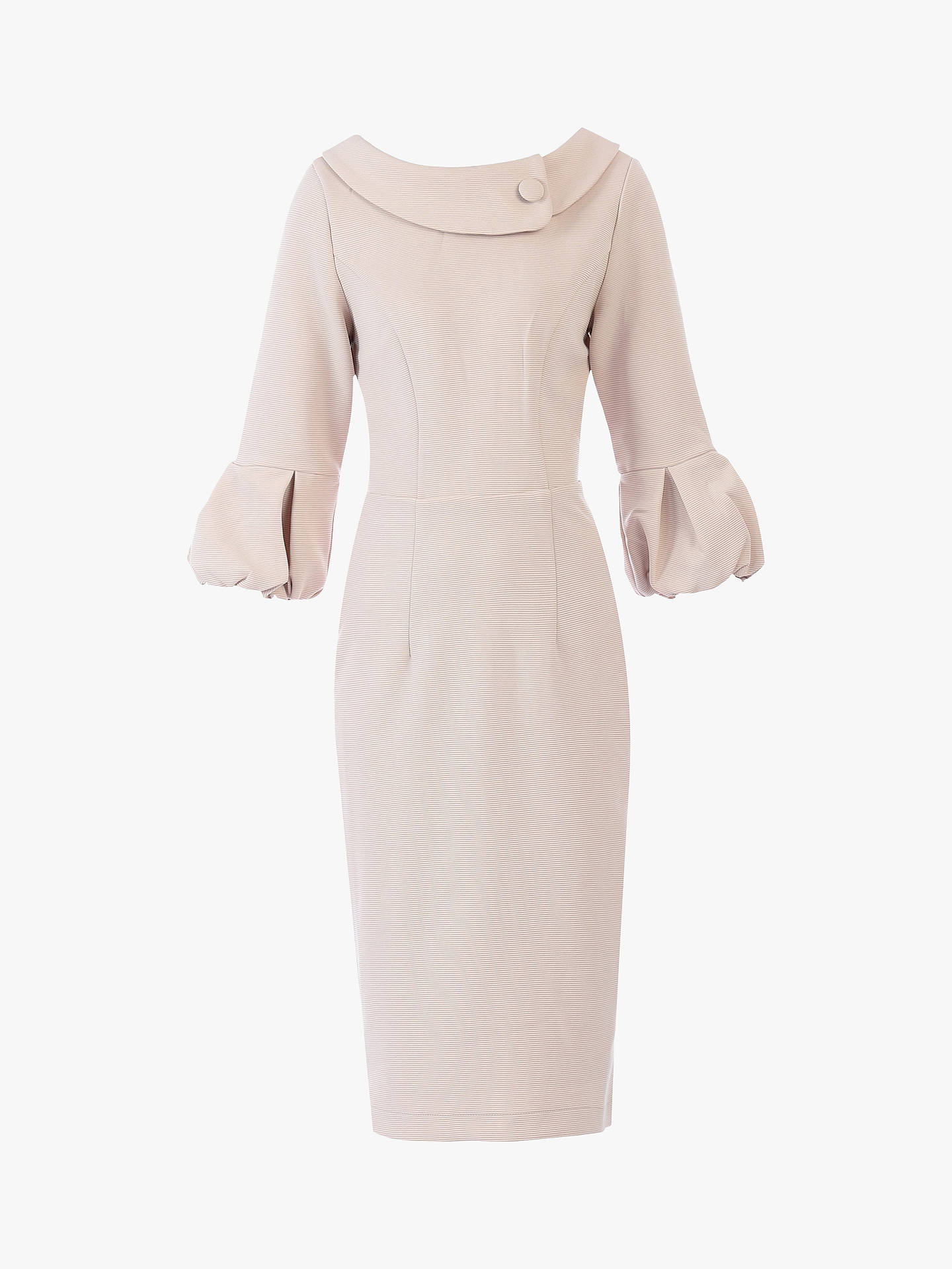 Buy Jolie Moi Bell Sleeve Collar Dress, Oyster, 10 Online at johnlewis.com