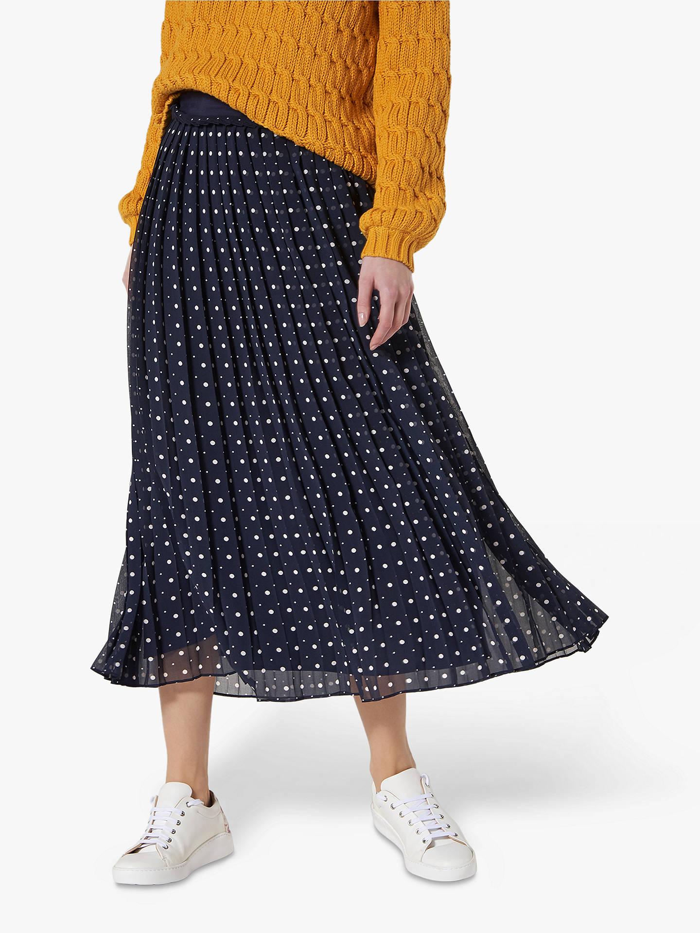 419ca55f757 L.K.Bennett Avery Spot Print Pleated Midi Skirt