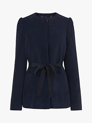 L.K.Bennett Aubriet Cotton Jacket, French Blue