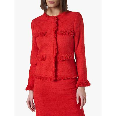 L.K.Bennett Myia Tweed Jacket, True Red